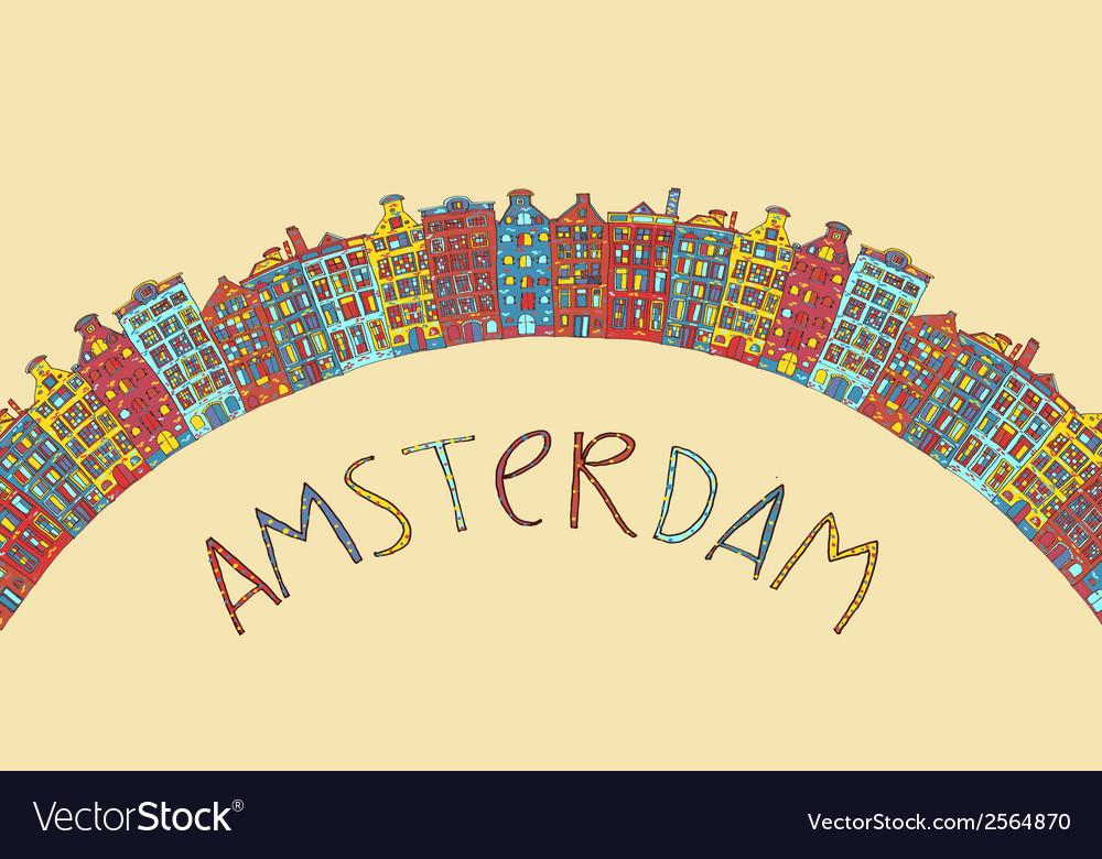 Amsterdam card vector | Price: 1 Credit (USD $1)