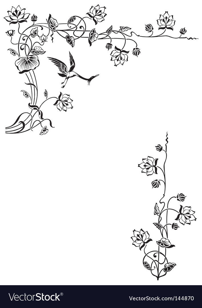 Antique floral frame engraving vector | Price: 1 Credit (USD $1)