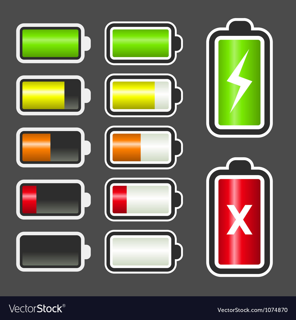 Battery level indicator kit vector | Price: 1 Credit (USD $1)