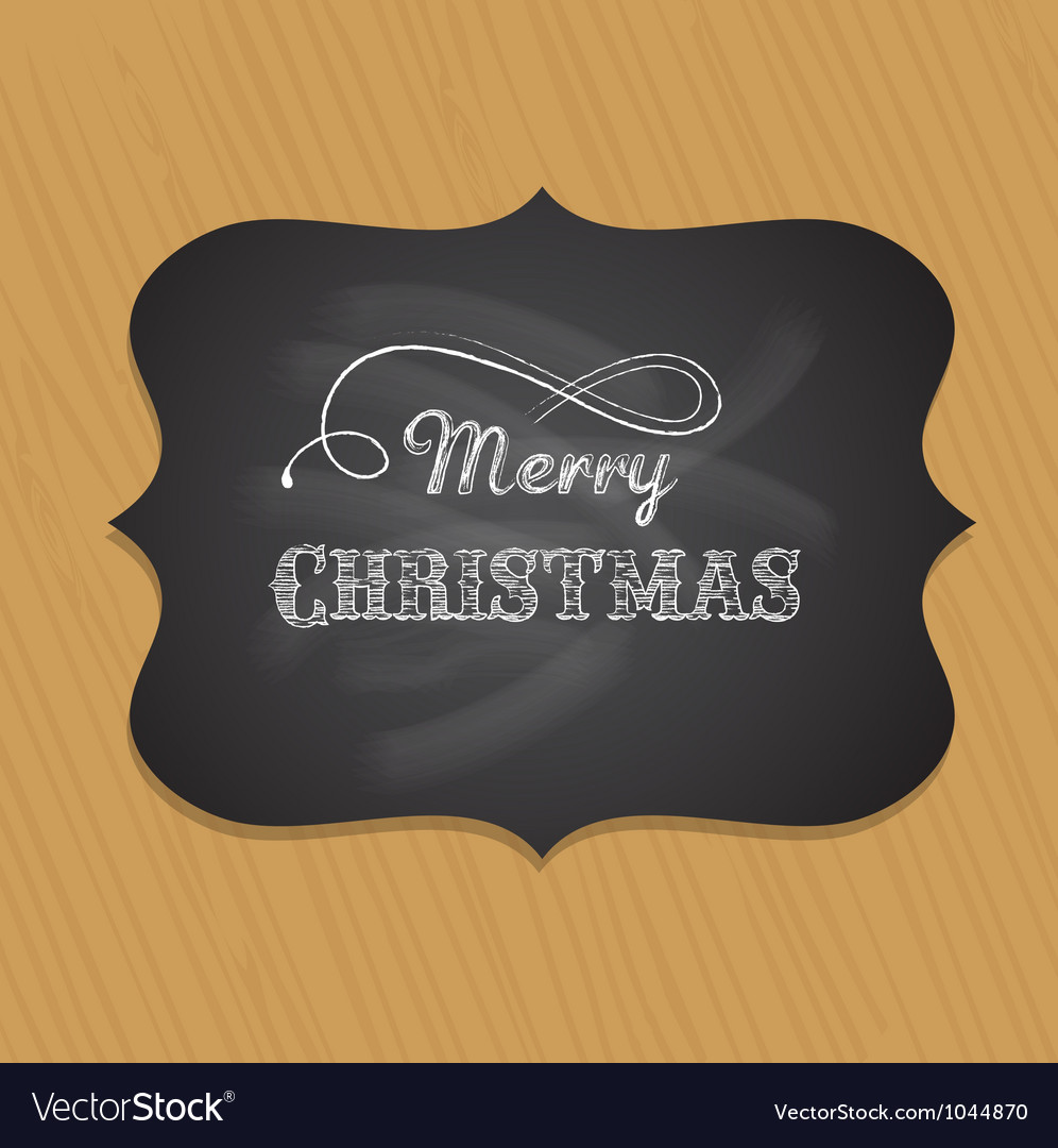 Chalkboard christmas background with elegant text vector | Price: 1 Credit (USD $1)