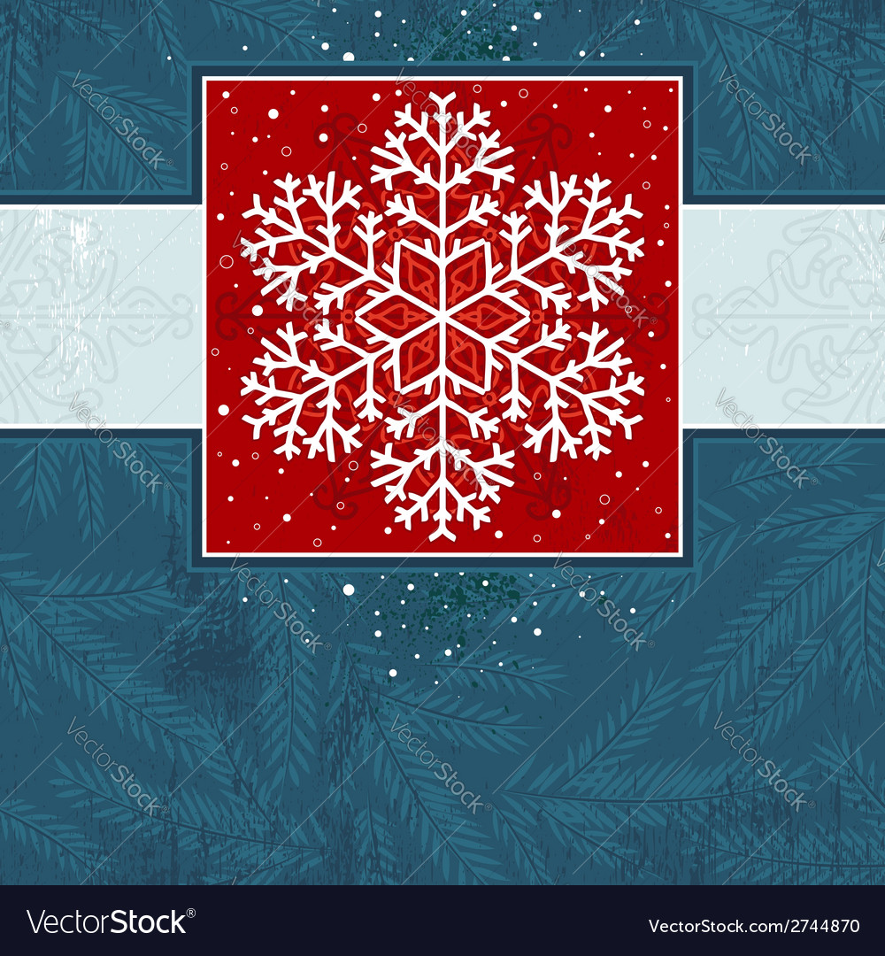 Christmas card with snowflake vector | Price: 1 Credit (USD $1)