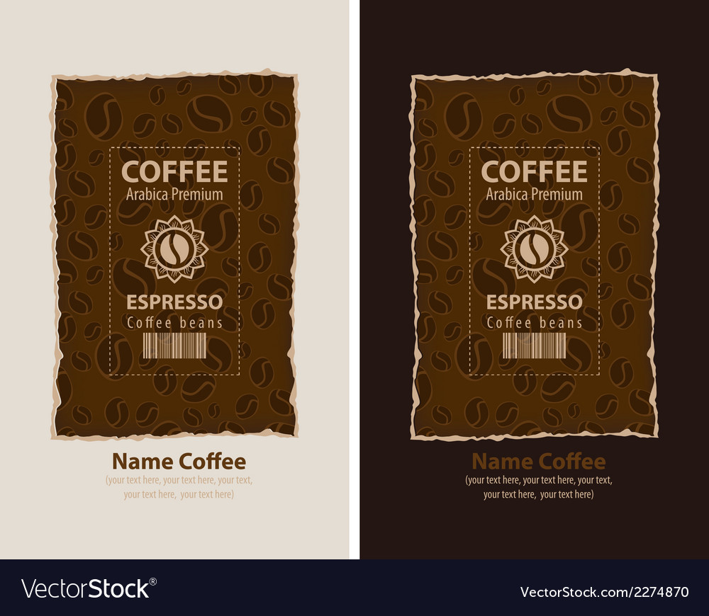 Coffee packing vector | Price: 1 Credit (USD $1)
