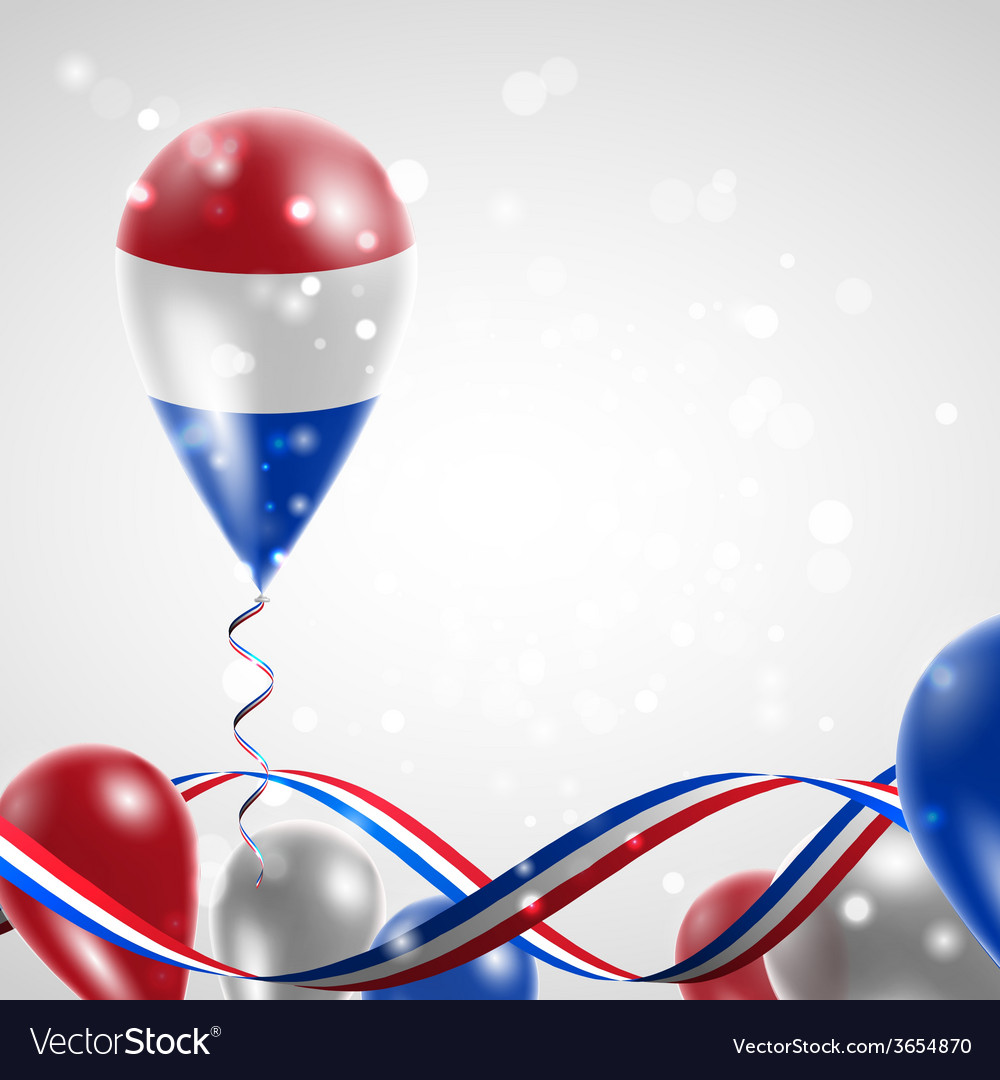 Flag of the netherlands on balloon vector | Price: 1 Credit (USD $1)