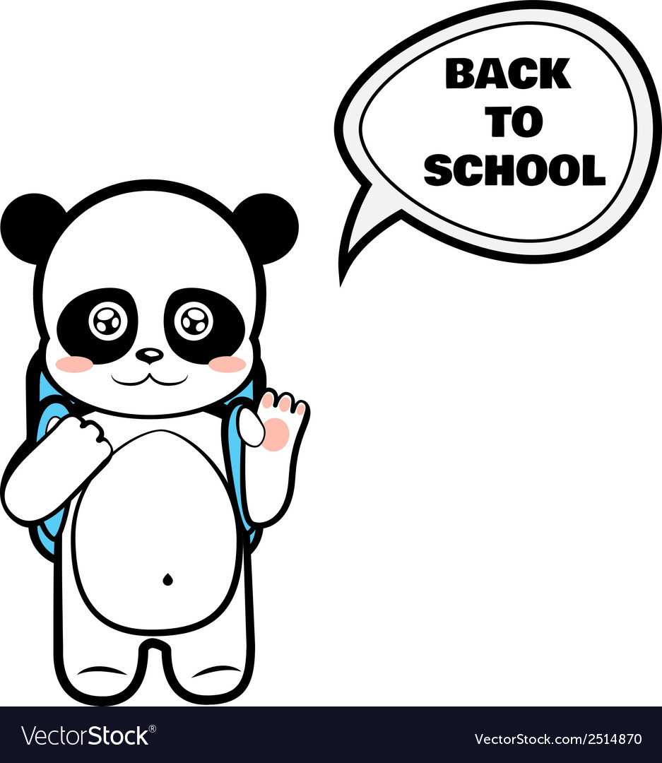 Panda schoolboy vector | Price: 1 Credit (USD $1)