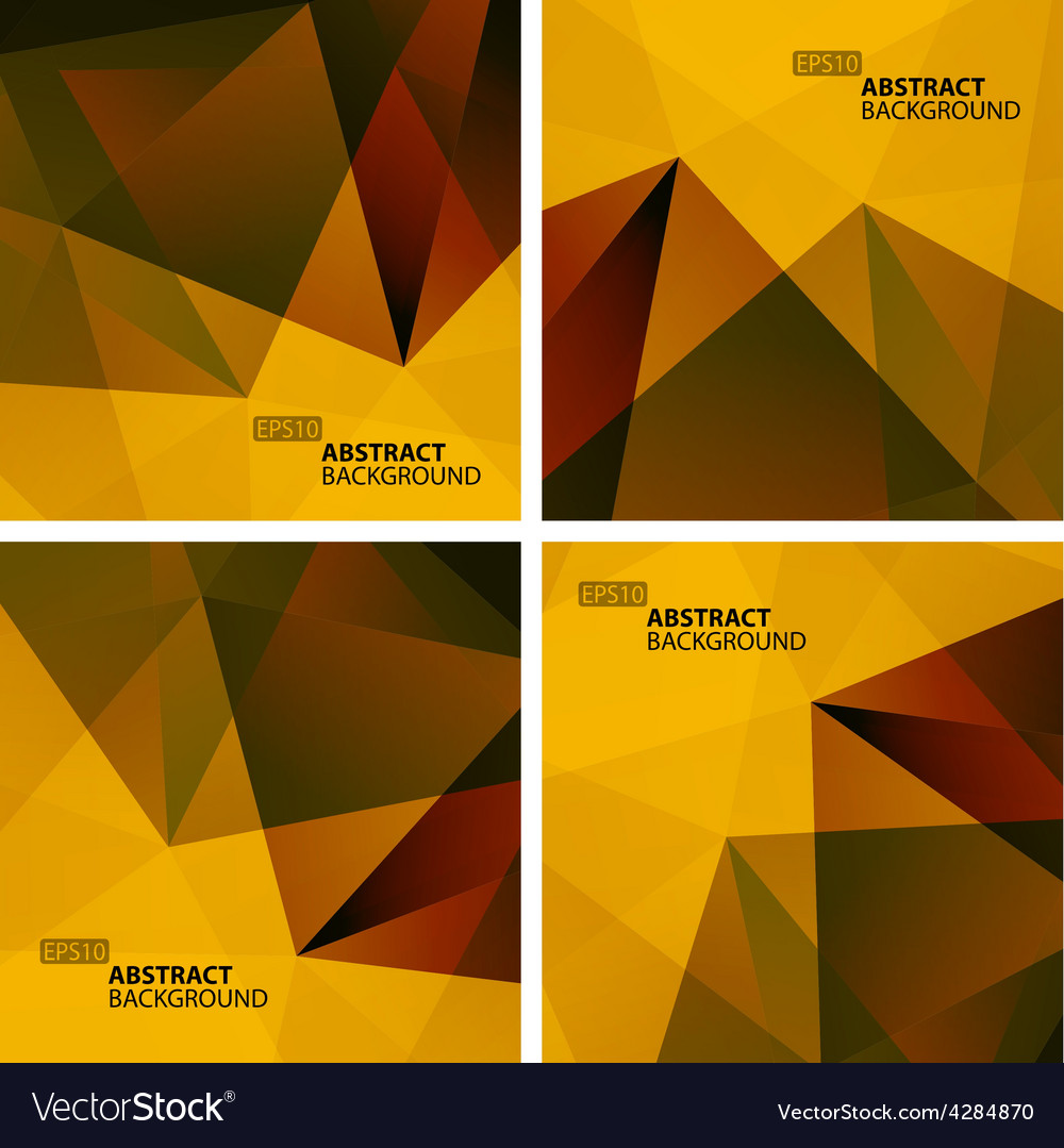 Set of bright colorful abstract geometric vector | Price: 1 Credit (USD $1)