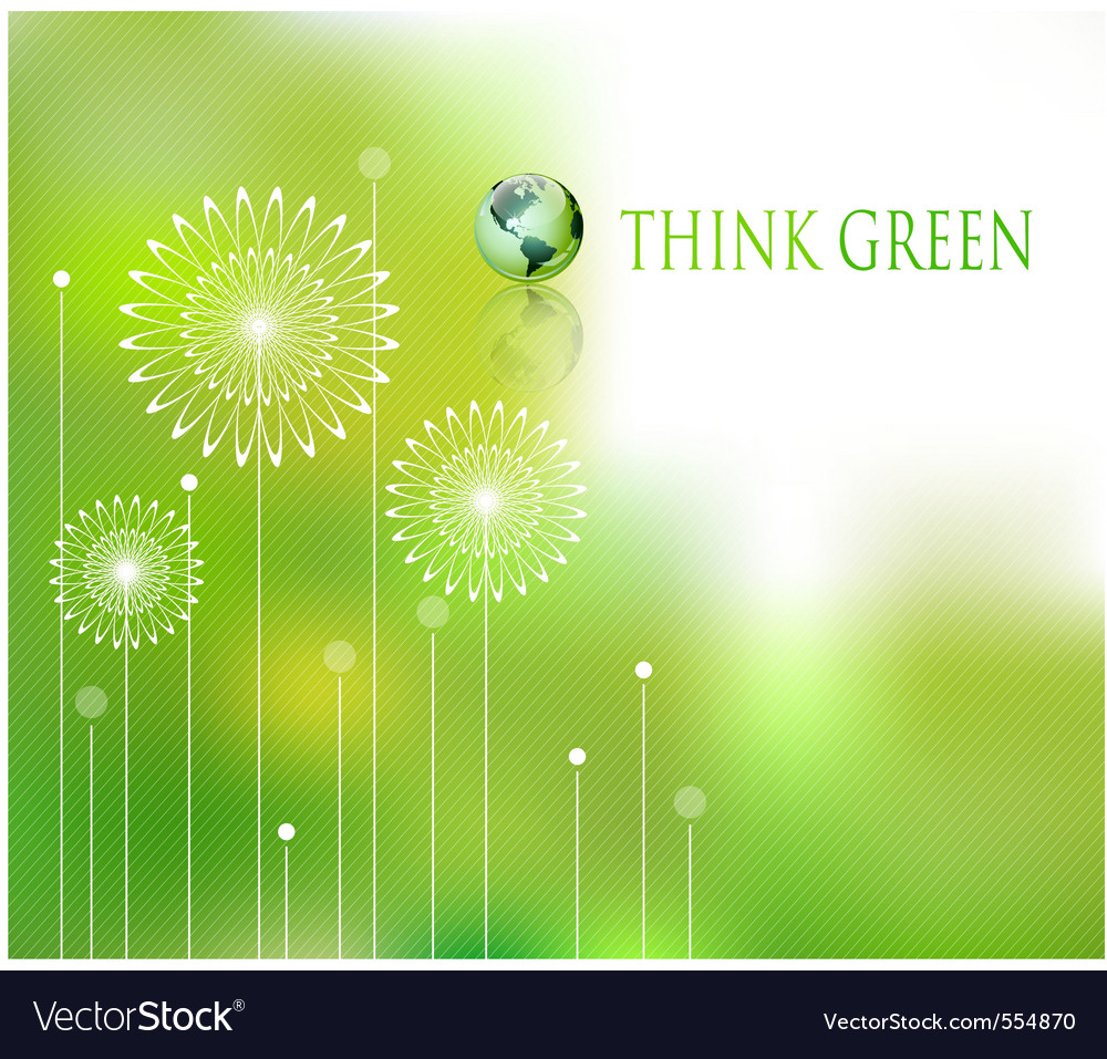 Think green background vector | Price: 1 Credit (USD $1)