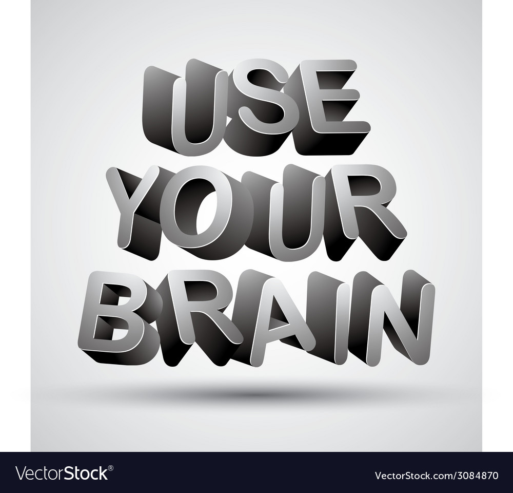Use your brain vector | Price: 1 Credit (USD $1)