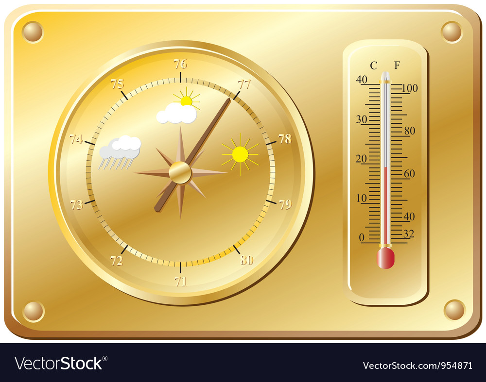 Barometer for determination of weather vector | Price: 1 Credit (USD $1)