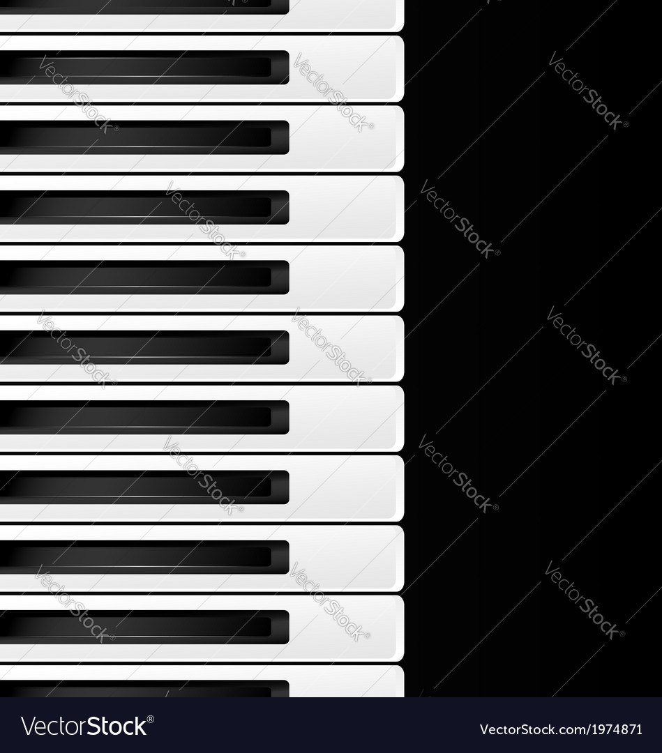 Black and white keys vector | Price: 1 Credit (USD $1)