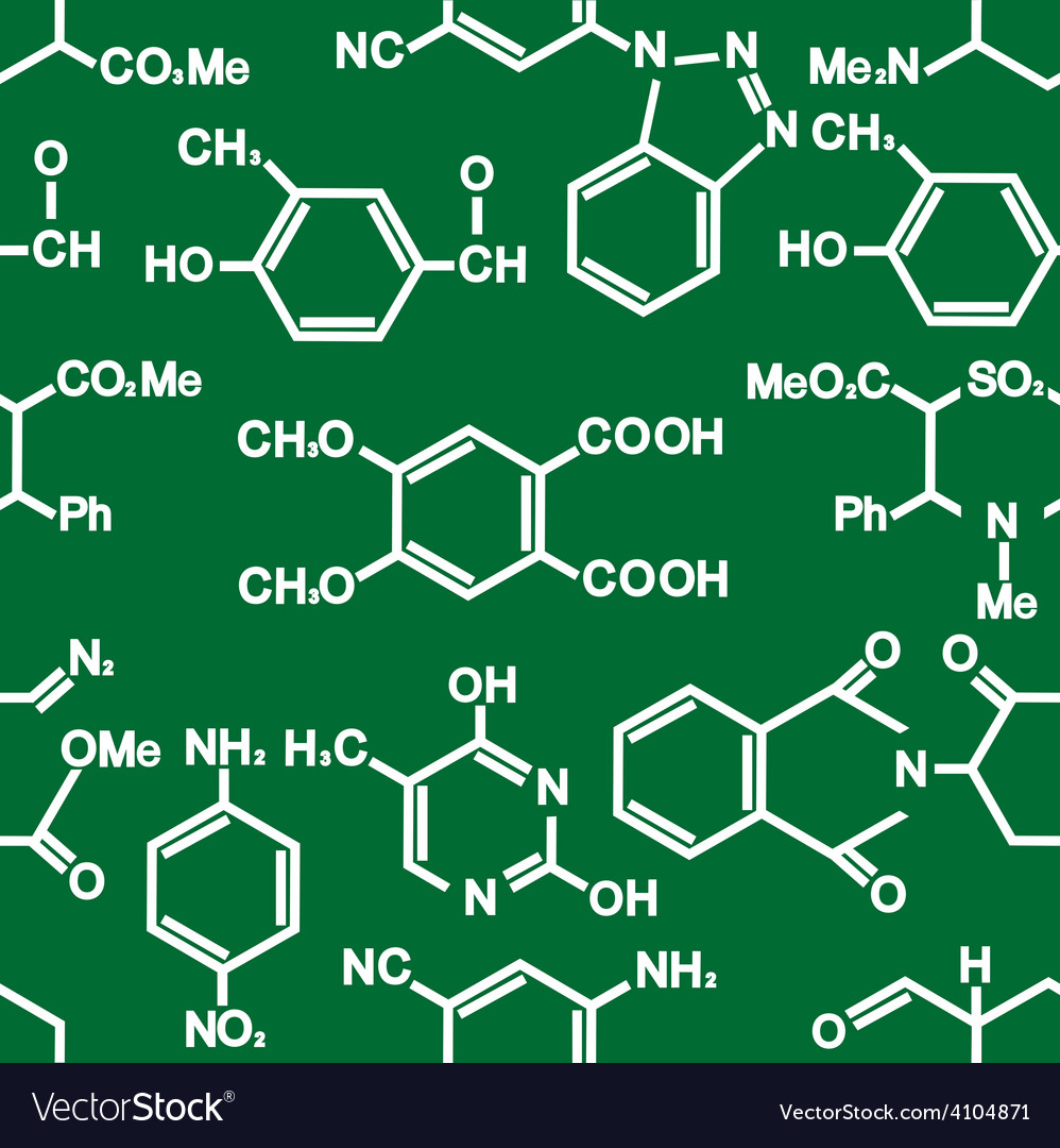 Chemistry seamless background pattern vector | Price: 1 Credit (USD $1)