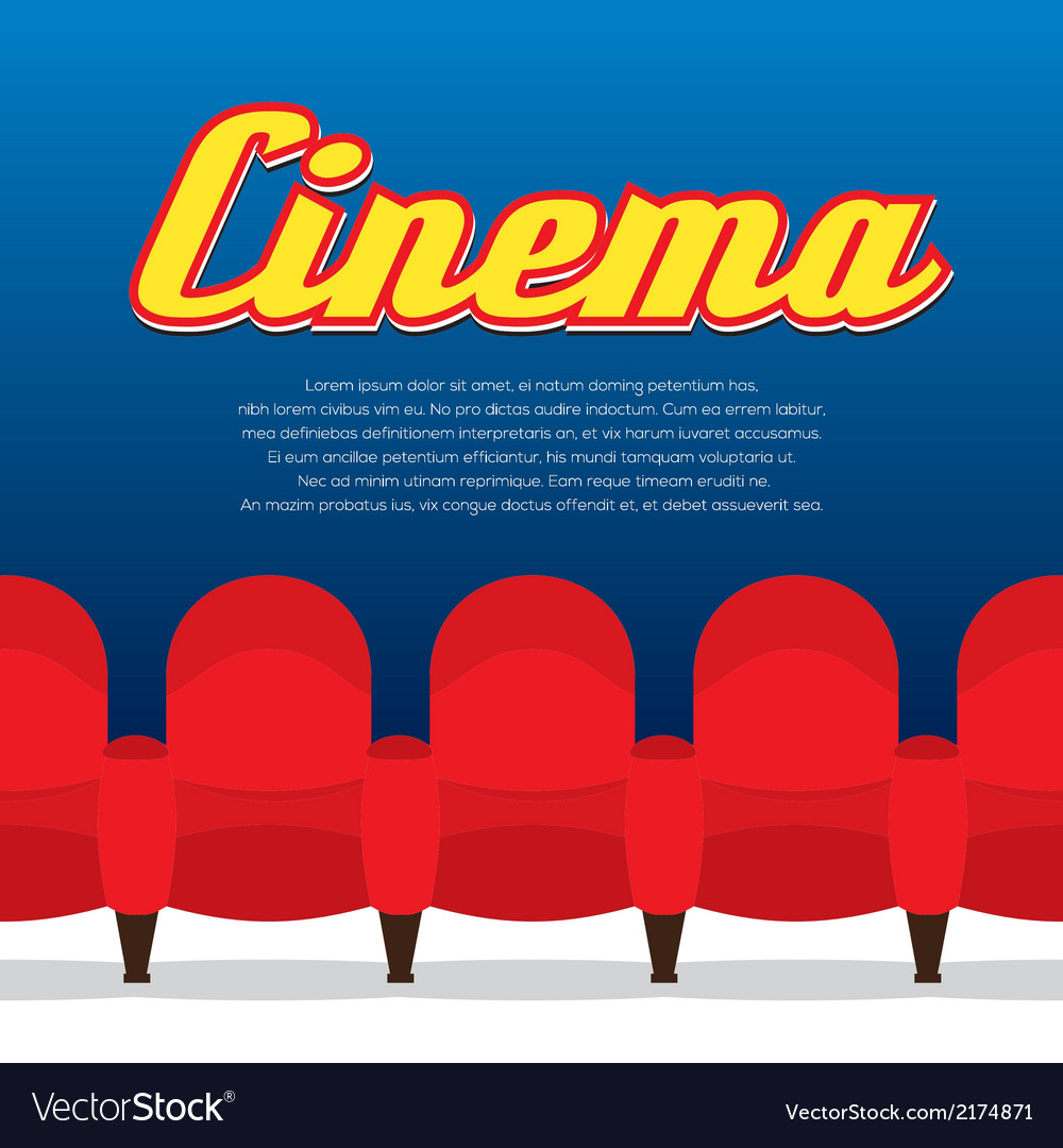 Cinema seats row vector | Price: 1 Credit (USD $1)