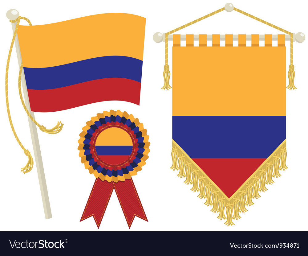 Colombia flags vector | Price: 1 Credit (USD $1)