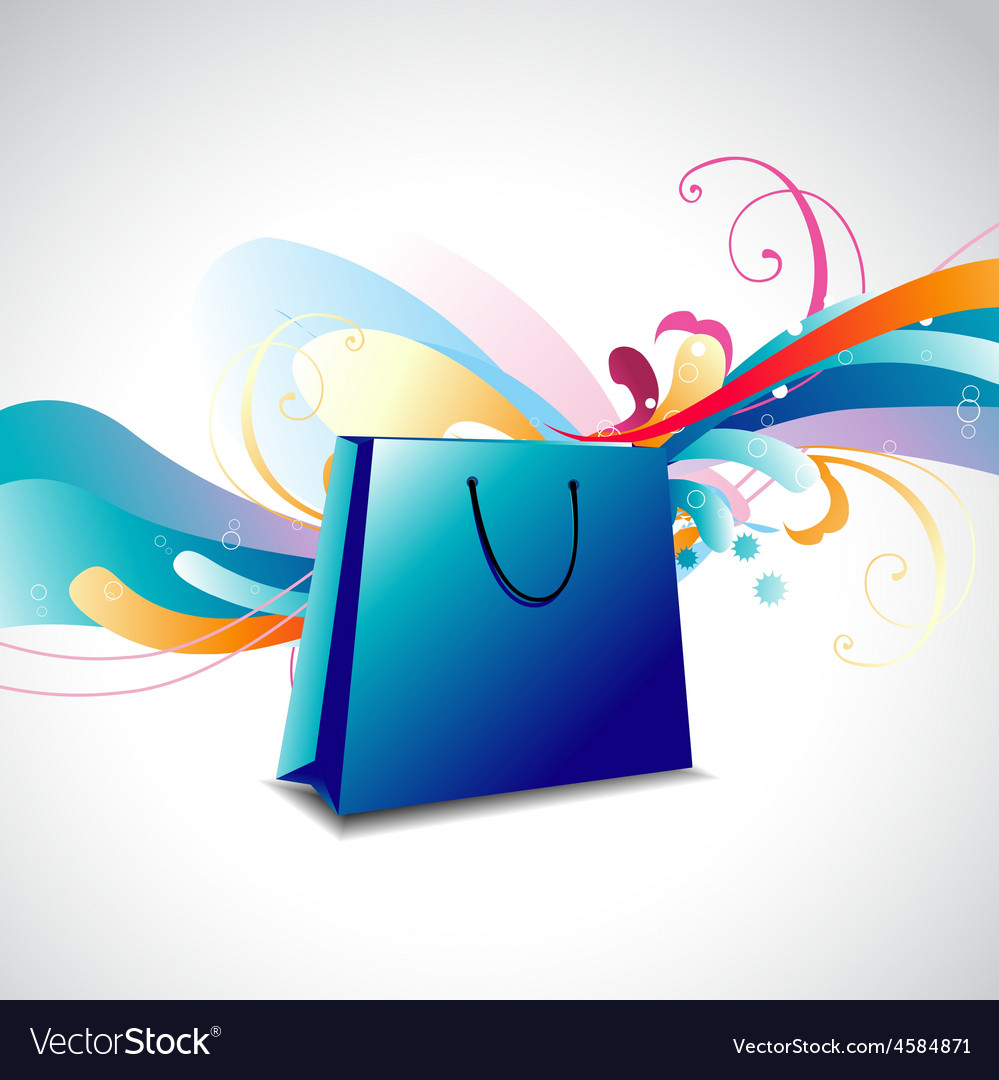 Colorful floral bag vector | Price: 1 Credit (USD $1)
