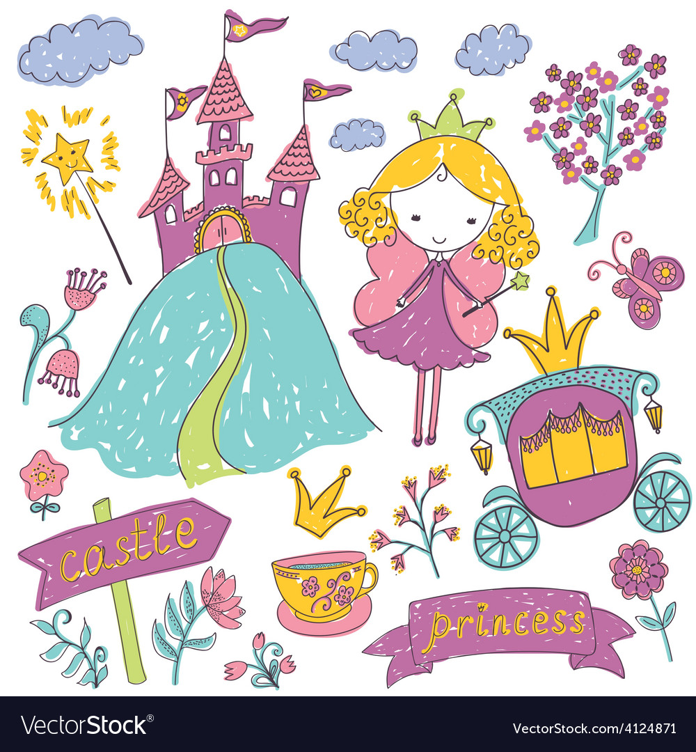 Fairy tale princess vector | Price: 1 Credit (USD $1)