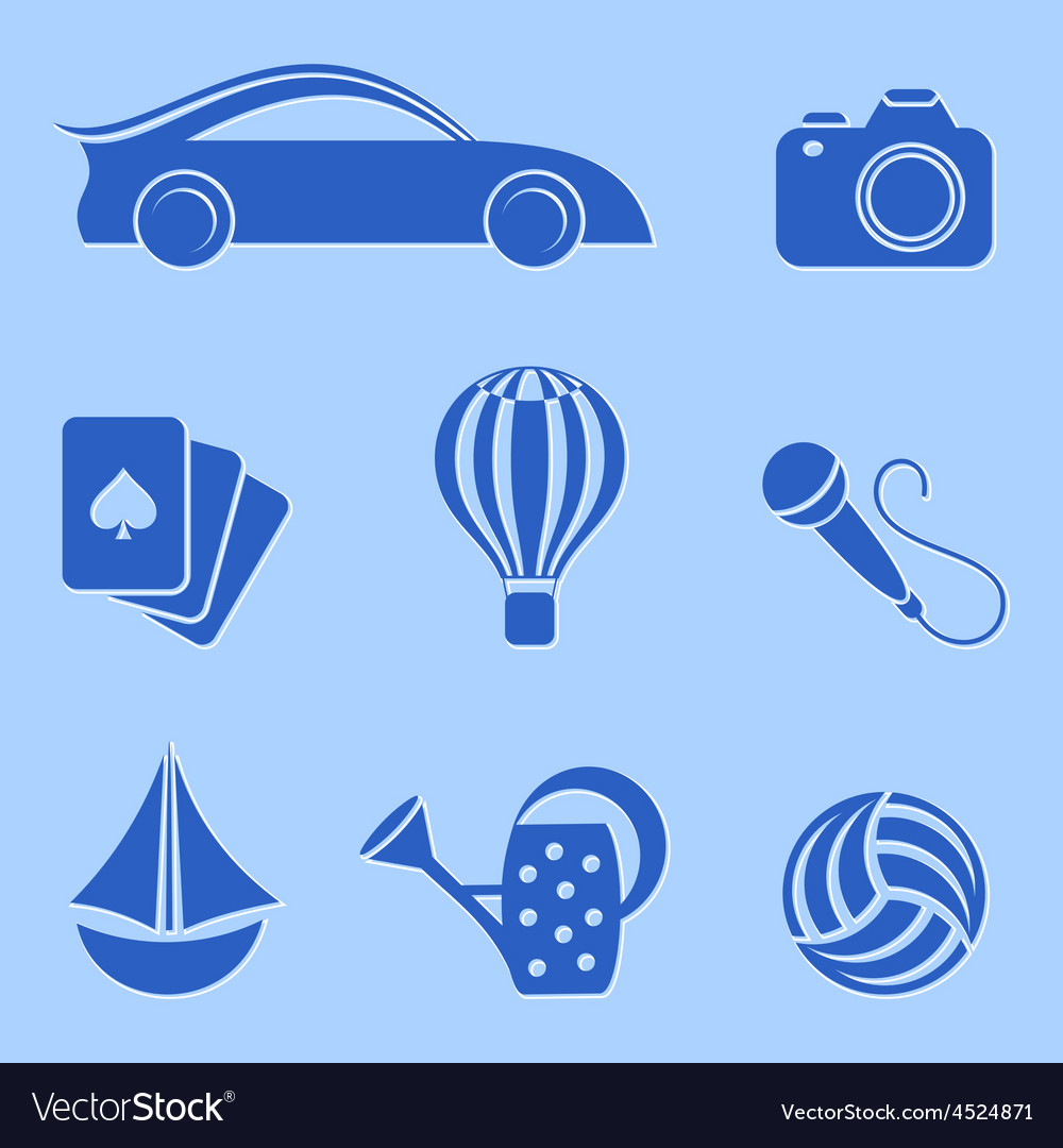 Hobby and leisure icons vector | Price: 1 Credit (USD $1)