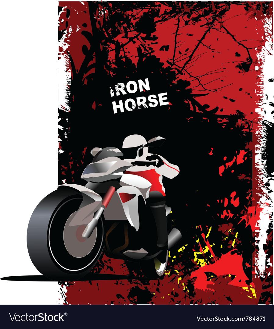 Motorbike poster vector | Price: 1 Credit (USD $1)