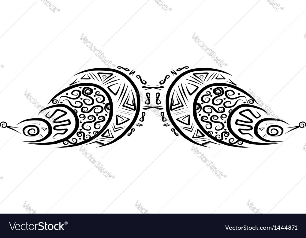 Ornate mustache shape for your design vector | Price: 1 Credit (USD $1)