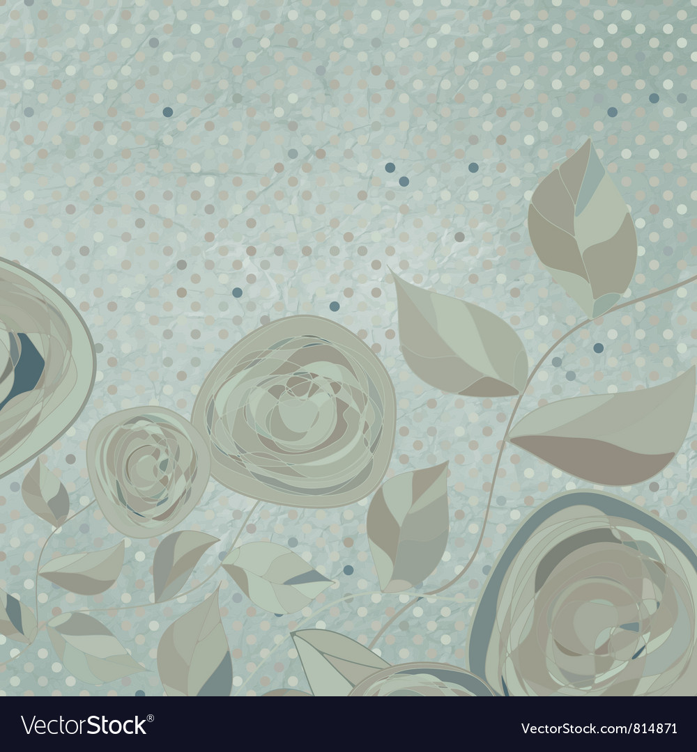 Vintage rose background vector | Price: 1 Credit (USD $1)