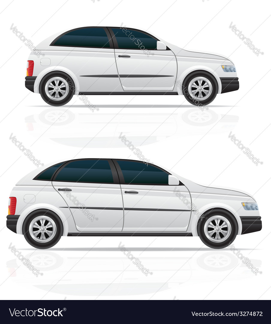 Car hatchback 03 vector