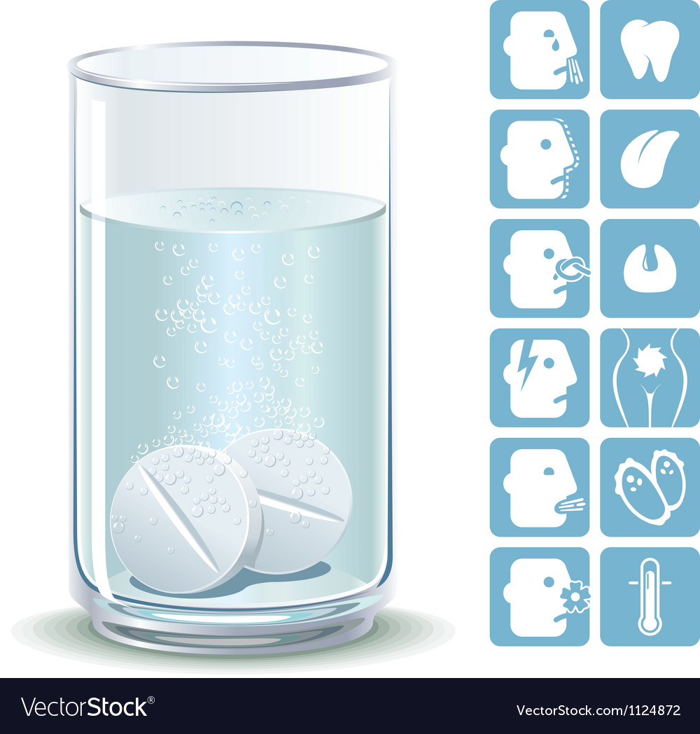 Effervescent tablets vector | Price: 1 Credit (USD $1)