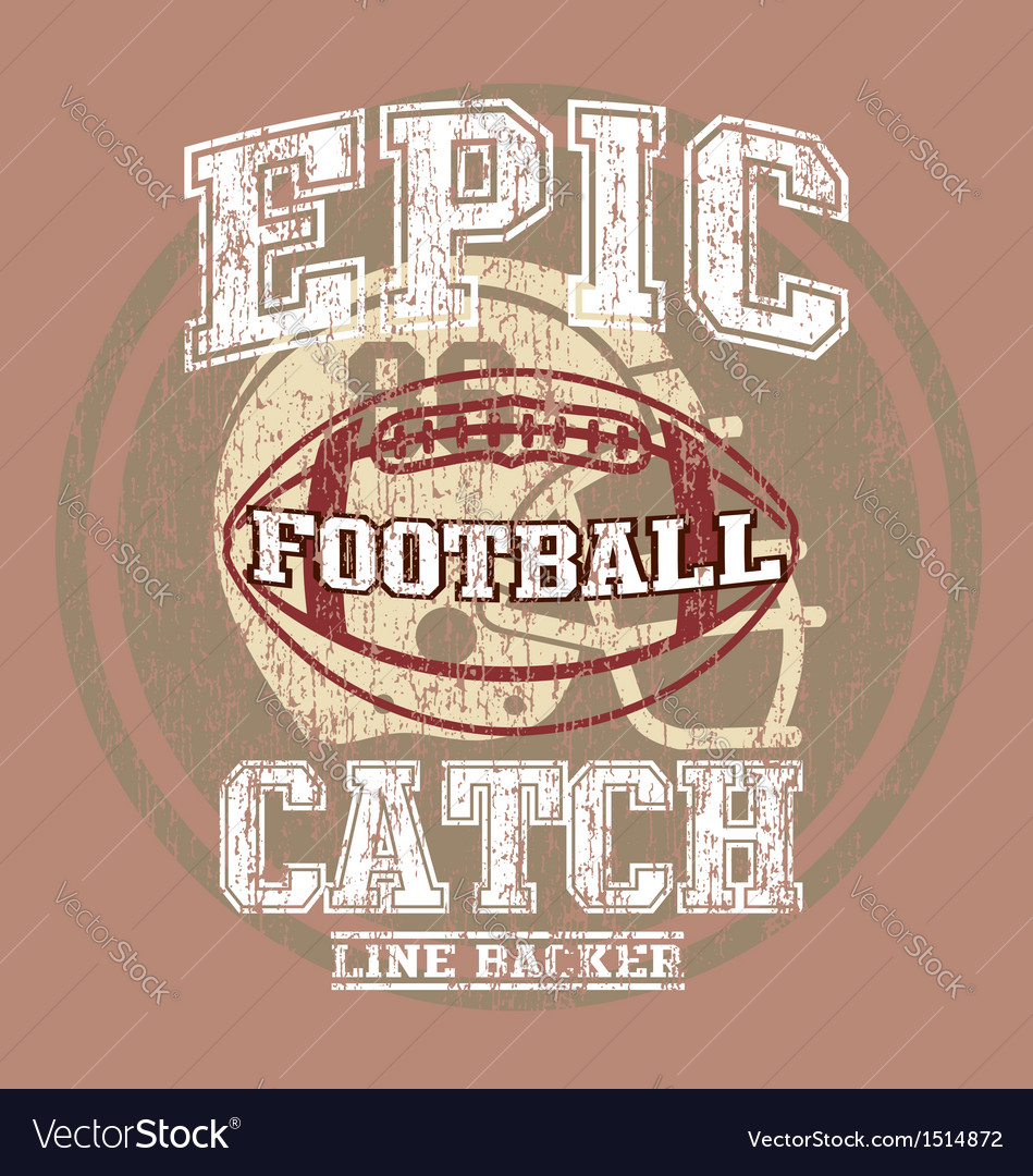 Epic american football vector | Price: 1 Credit (USD $1)