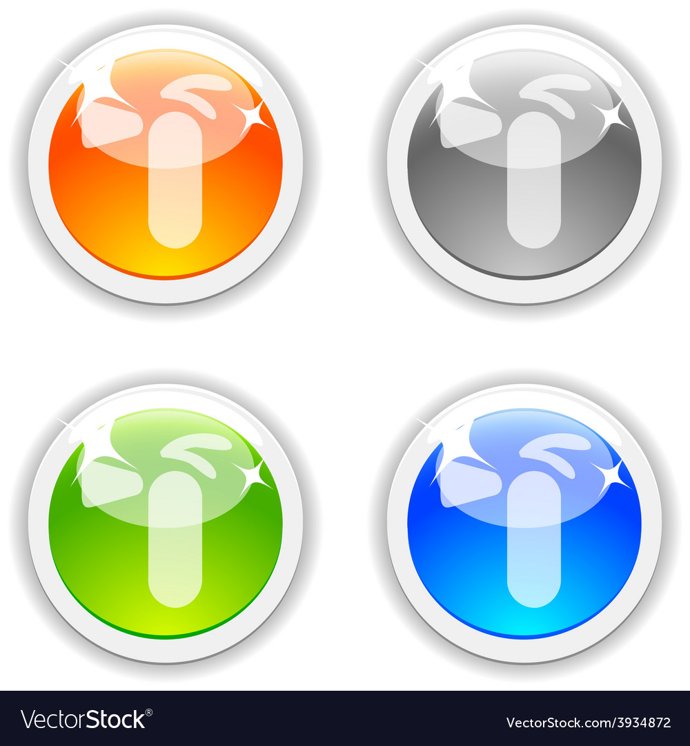 Fire-extinguisher buttons vector | Price: 1 Credit (USD $1)