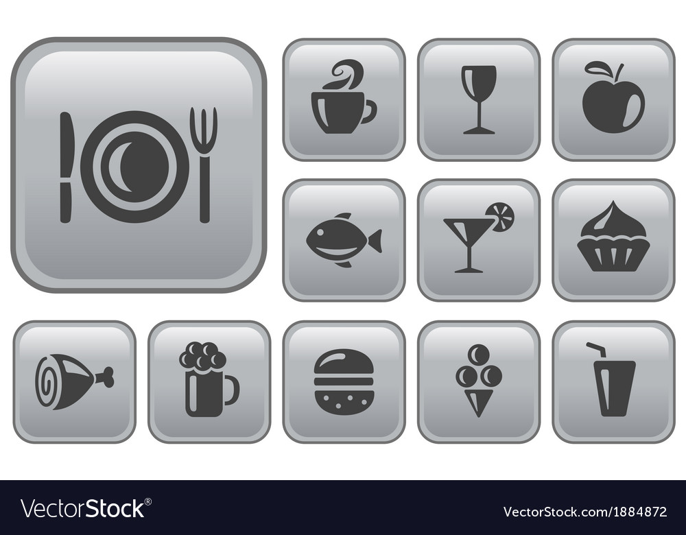 Food and drink buttons vector | Price: 1 Credit (USD $1)
