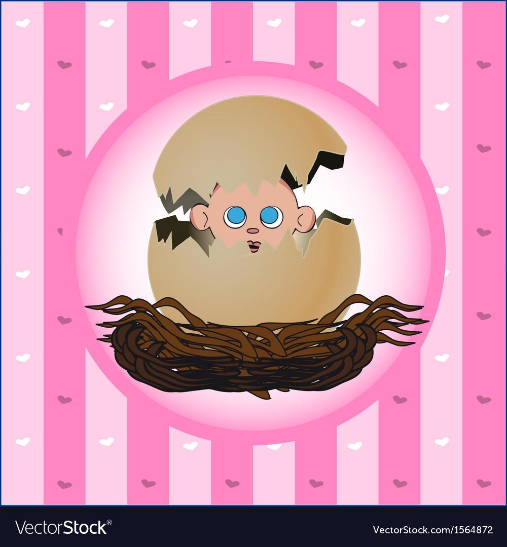 Newborn girl vector | Price: 1 Credit (USD $1)