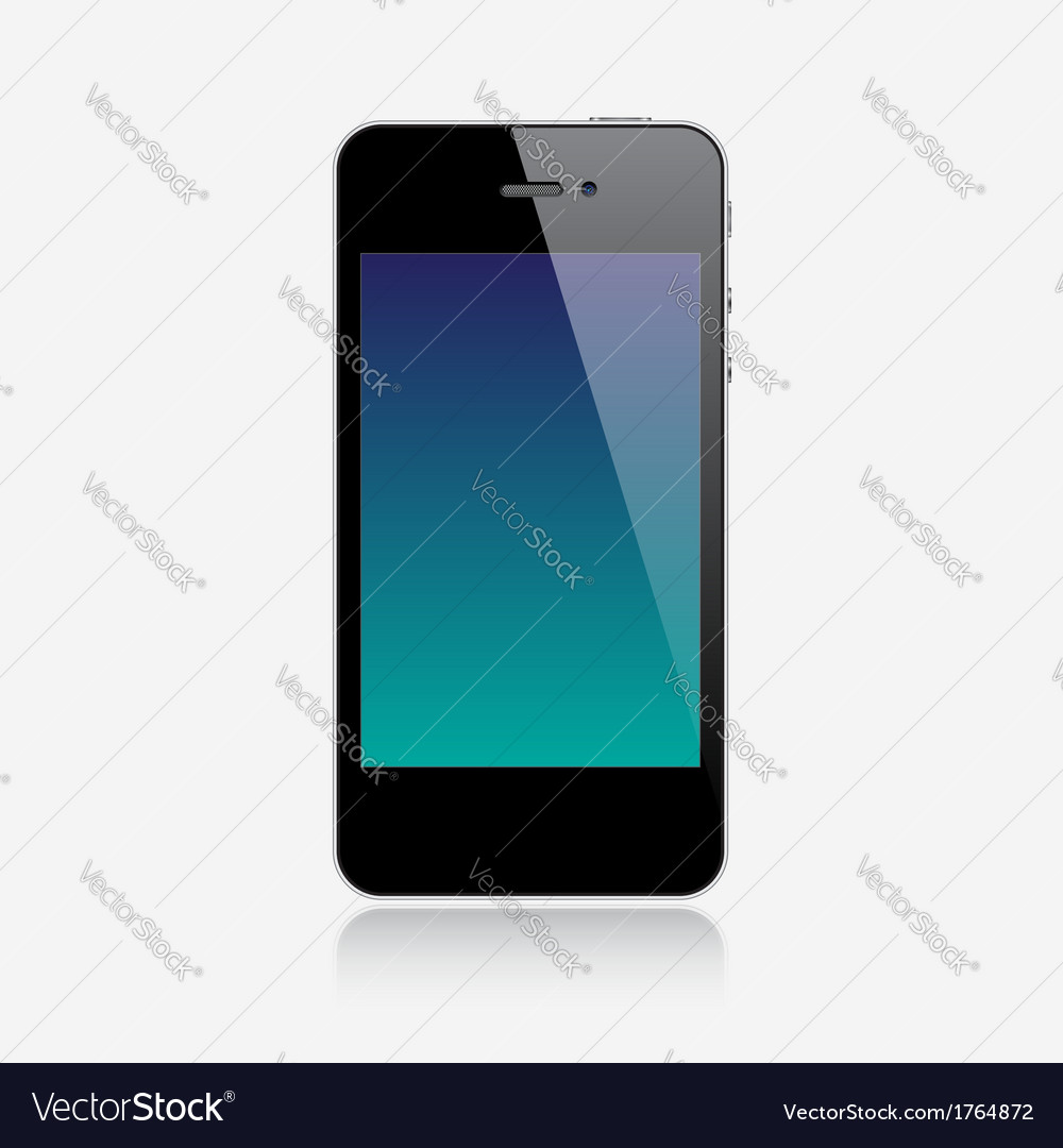 Realistic smartphone vector | Price: 3 Credit (USD $3)