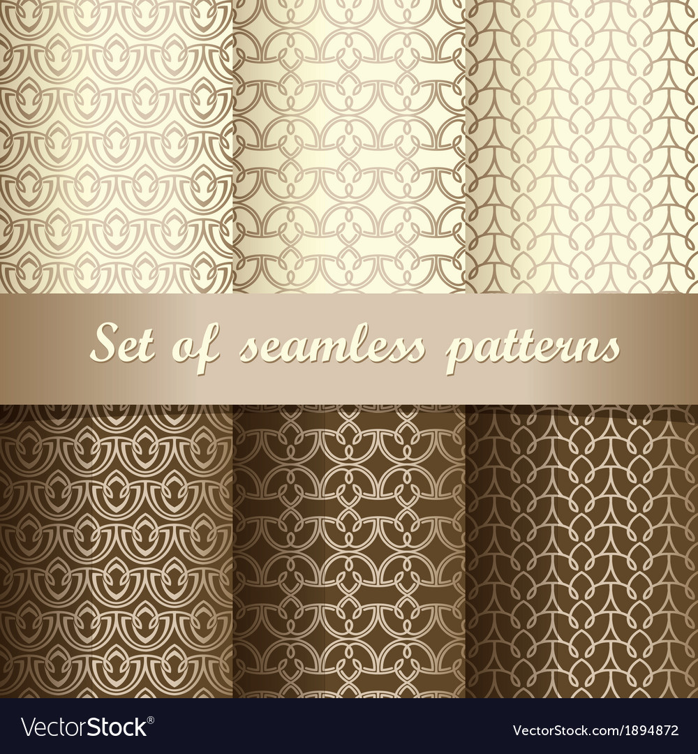 Set of seamless patterns 1 vector | Price: 1 Credit (USD $1)