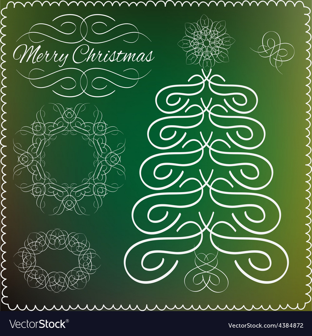 Set of vintage cristmas calligraphic and vector | Price: 1 Credit (USD $1)
