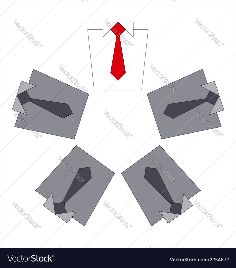 White collar and his business team vector | Price: 1 Credit (USD $1)