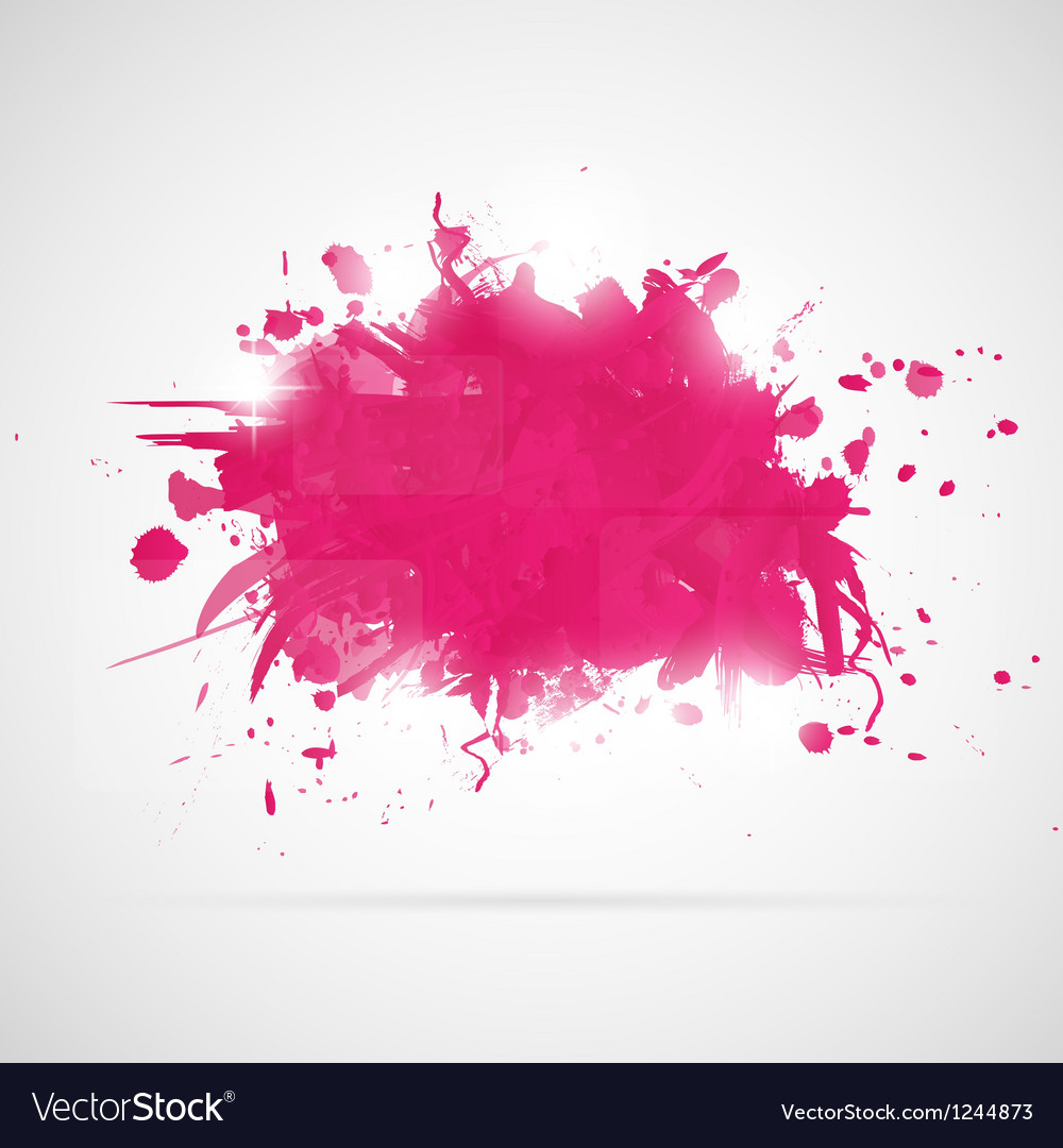 Abstract background with pink paint splashes vector | Price: 1 Credit (USD $1)