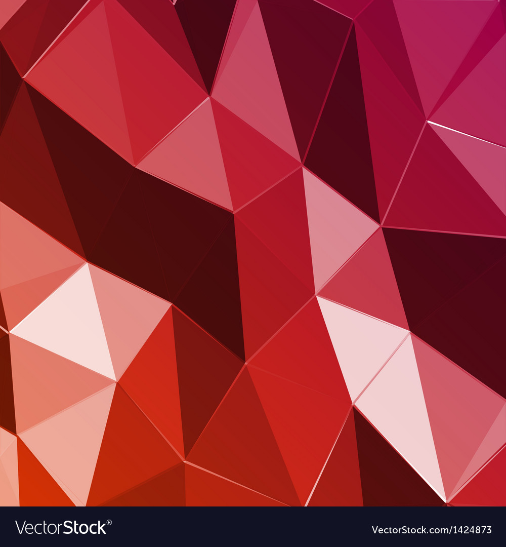 Abstract geometric red triangle background vector | Price: 1 Credit (USD $1)