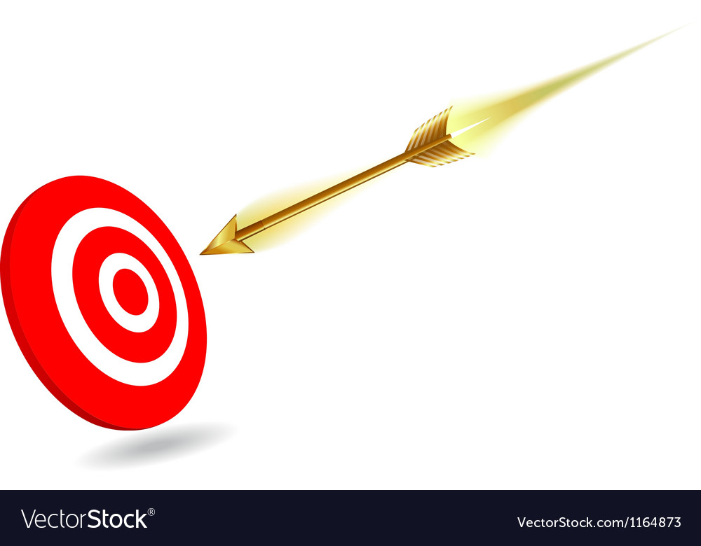 Arrow on target vector | Price: 1 Credit (USD $1)