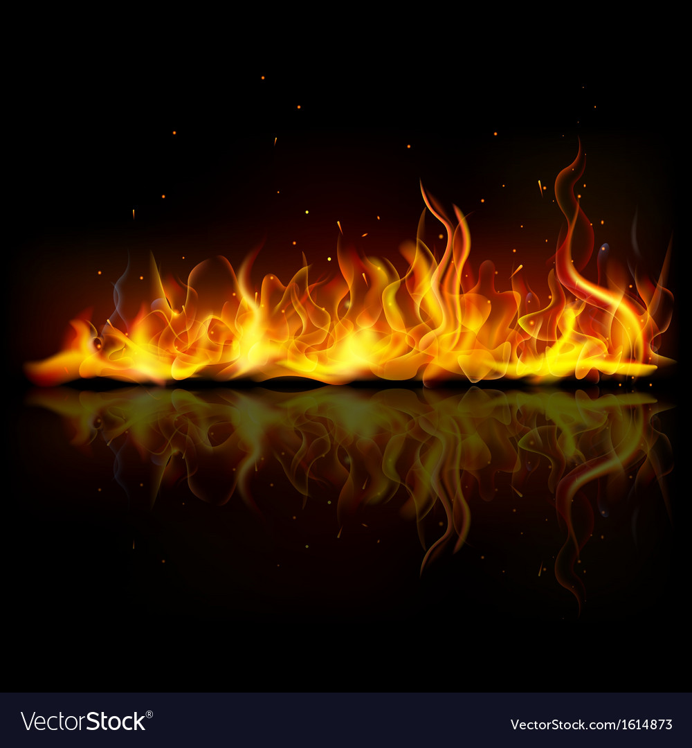 Burning fire flame vector | Price: 1 Credit (USD $1)