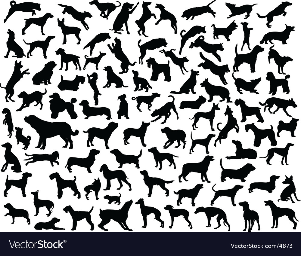 Dog outlines vector | Price: 3 Credit (USD $3)