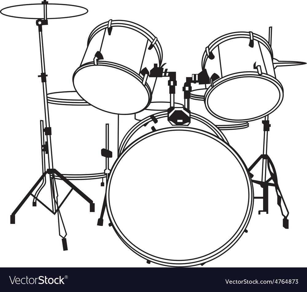 Drum music vector | Price: 1 Credit (USD $1)
