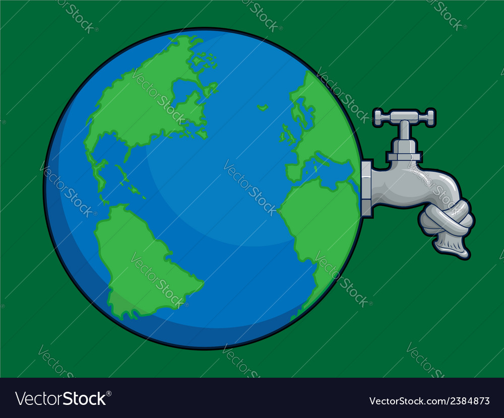 Earth water problem vector | Price: 1 Credit (USD $1)