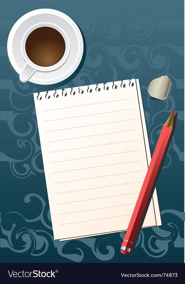 Pencil sheet coffee vector   Price: 1 Credit (USD $1)