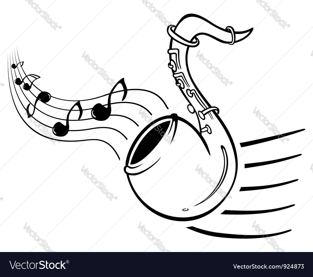 Sax music vector | Price: 1 Credit (USD $1)