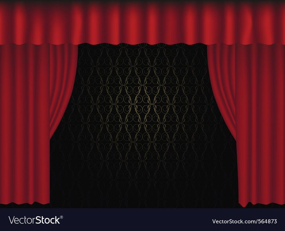 Tre curtain vector | Price: 1 Credit (USD $1)