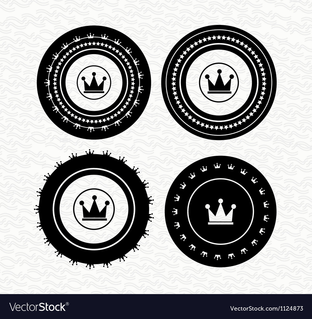 Vintage retro empty labels  badges  stamps icon vector | Price: 1 Credit (USD $1)