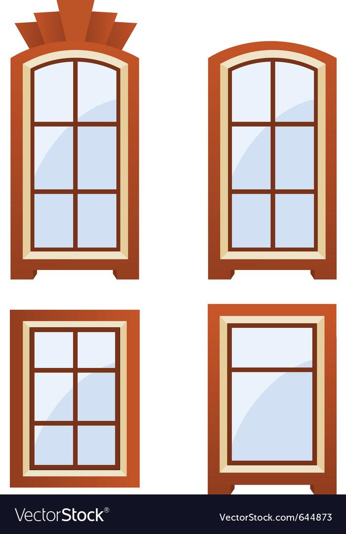 Window icons vector