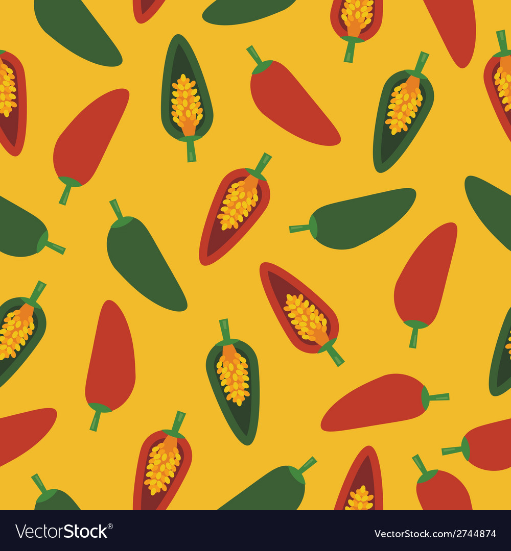 Chilli pepper pattern vector | Price: 1 Credit (USD $1)