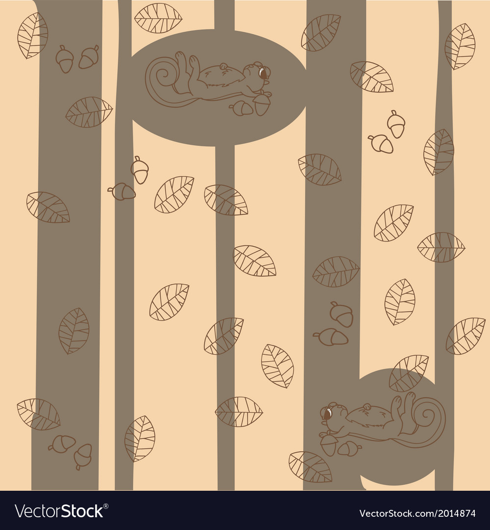 Forest pattern vector | Price: 1 Credit (USD $1)