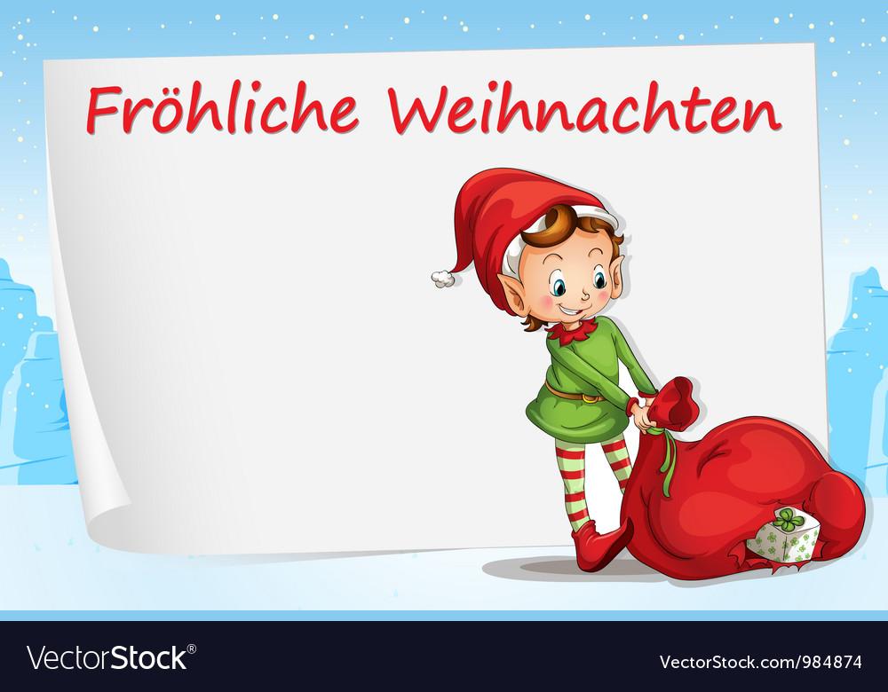 German christmas greeting vector | Price: 1 Credit (USD $1)