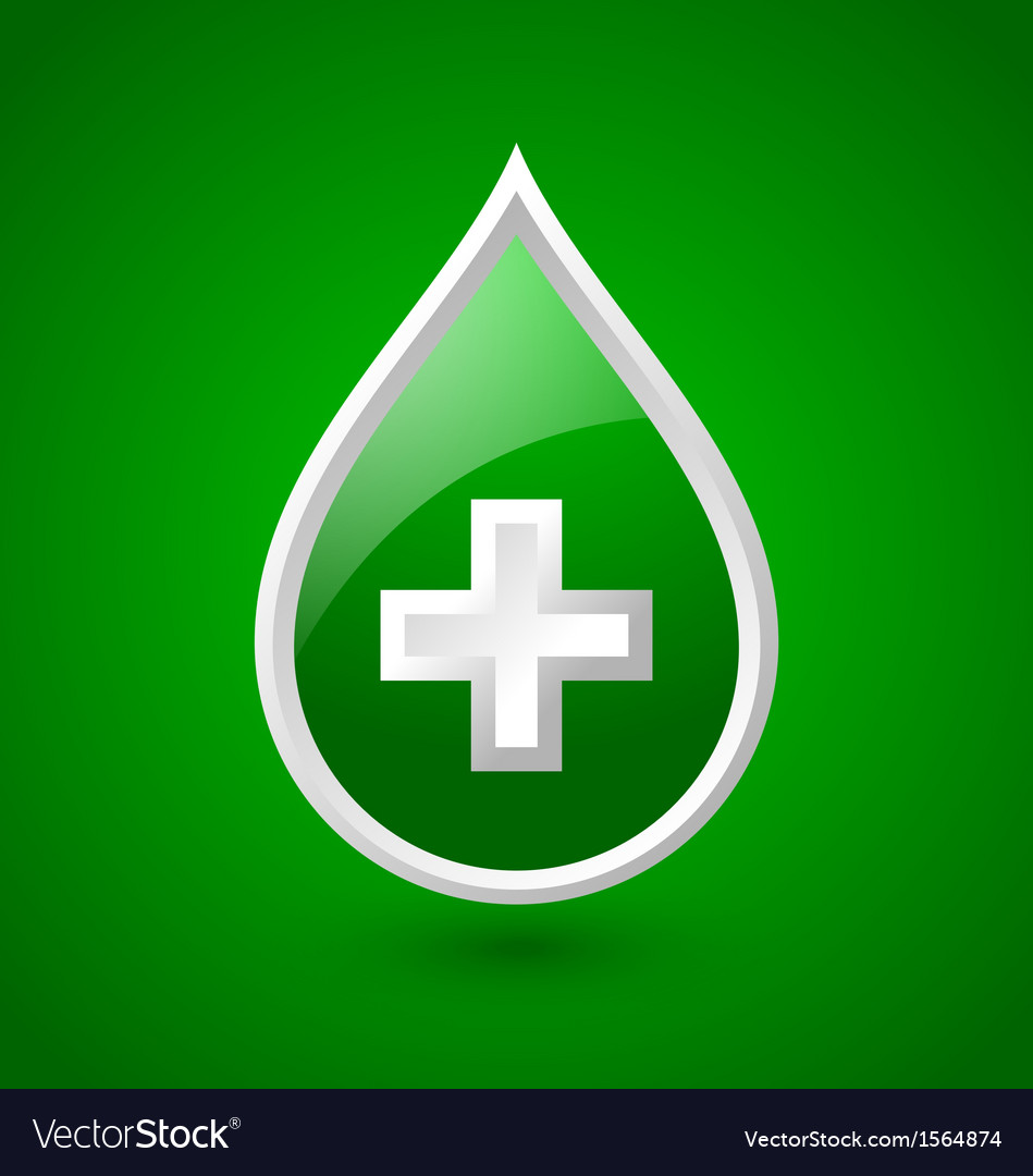 Green blood medical icon vector | Price: 1 Credit (USD $1)