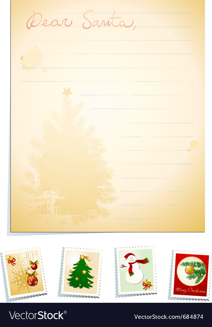 Letter to santa vector | Price: 1 Credit (USD $1)