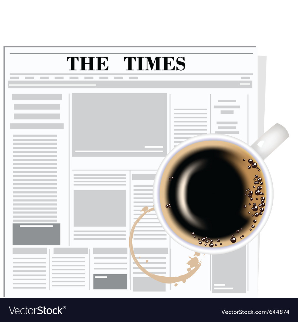 Newspaper and coffee vector | Price: 1 Credit (USD $1)